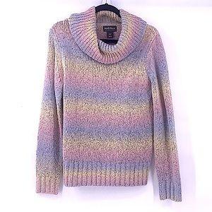 Woolrich pastel rainbow stripe sweater medium